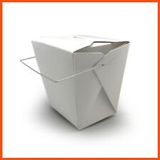 450 x ECO FRIENDLY WIRE HANDLE FOOD PAIL 32oz Chinese Takeaway Noodle Box 950ml