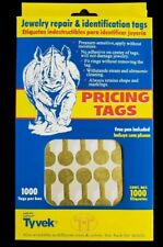 1000 Pcs Gold Price Tags Stickers Jewelry Round Barbell Labels Dumbbell Tags