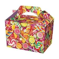 Candy Party Boxes - Sweet Treat Lollypop Food Loot Lunch Cardboard Gift