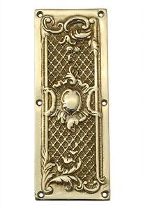"8"" Brass Trellis Fingerplate  antique style period door plates finger push plate"