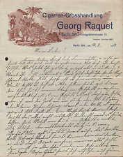Berlín Sw., carta 1913, puros-grosshandlung Georg raquet