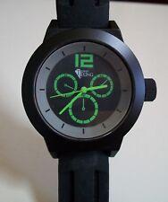 Men's Techno Bling Black Silicon Band Fashion Casual Wrist Watch