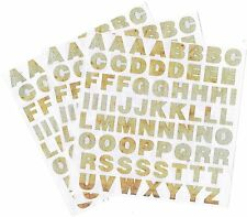 Mrs Grossman's SCRAP Metal ABC Alphabet Scrapbook Stickers 3 Sheets!