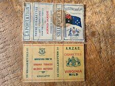 WW1 AUSTRALIA FLAG CIGARETTE PACKET ANZAC