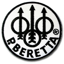 Beretta Patch Iron on Weapons Gun Pistol Rifle Badge Sewing Hunter Sport Vest MC
