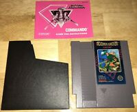 COMMANDO Nintendo NES Action Game 5-Screw Cart, Manual, Sleeve CAPCOM 1986 NICE!