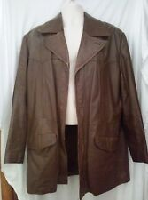 Vintage Sears Men's Brown Leather Jacket Zip out Lining 44T Reg The Leather Shop