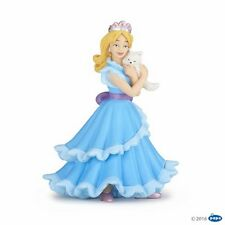 Papo 39125 Princess with Cat Blue 10 cm Say and Fairy Tale