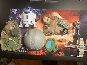 Vintage Lot 8 STAR WARS Micro Machines Playset Ships Jawa Death Star INCOMPLETE