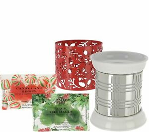 HomeWorx by Harry Slatkin Fragrance Warmer with 2 Sleeves and 12 Gelables