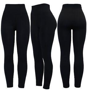 New Ladies High Waist Thick Warm Winter Soft Fleece Lined Legging 8-10-22,