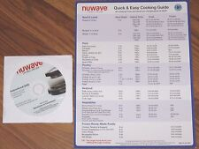 NUWAVE PRO PLUS INFRARED OVEN COOKING INSTRUCTION DVD DISC RECIPES QUICK GUIDE