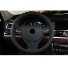 15 inch Car Steering-wheel Cover Breathable Red weave PU Leather Black