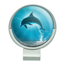 Leaping Dolphin Ocean Light Golf Hat Clip With Magnetic Ball Marker