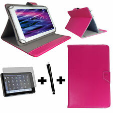 10.1 zoll Tablet Tasche + Folie + Stift - Samsung Galaxy Tab 2 P5100 - 3in1 Pink