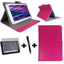 10.1 zoll Tablet Tasche + Folie + Stift - Samsung Galaxy Tab 2 P5100 - 3in1 Pink