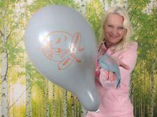 "10 x Unique 16"" Luftballons HAPPY HALLOWEEN * GREY * GRAU * LOONER-WITCH*"