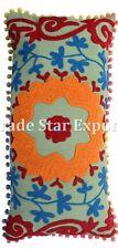 Vintage Uzbek Suzani Pillow Cover Decorative Throw Cushions Indian Cotton Pillow