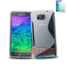 Funda gel TPU SLINE S-LINE TRANSPARENTE + 1 protector Samsung Galaxy Alpha G850F