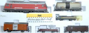Bemo Rhb H0m Güterzug Ferrovia Retica G04/4 Vals 643 Ellok + Güterwagen å