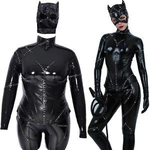 Plus Size Cat Woman Cosplay Costume Jumpsuit Bodysuit Fullset