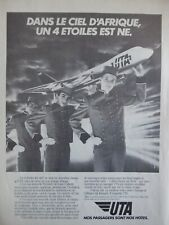 5/1985 PUB COMPAGNIE AERIENNE UTA AIRLINE BOEING 747 AIRLINER AFRIQUE FRENCH AD