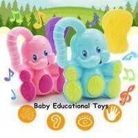 Baby Musical Developmental Bed Bells Soft Rattle Kids Educational Elephant Toys