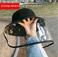 Removable Protective Transparent Full Face Hat Dustproof Saliva Fisherman Hat
