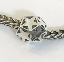 Authentic Trollbeads Sparkling Star Sterling Silver Bead