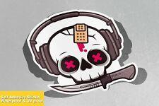 Skully Knife Face Danger Cute Girly Vinyl Sticker Decal Window Car Van Bike 4388