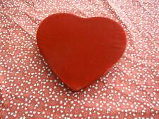 Red Velvet Heart Shape Valentine Candy Box Very Soft