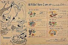 Vintage 1960 Kellogg's Hi to Parents from Camp Postcard 1960s