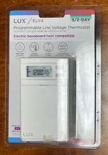 Lux Elv4 Programmable Line Voltage Thermostat 5/2 Day Baseboard Heat Compatible
