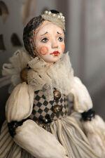 "Paper Clay OOAK Clown Art doll ""Mimi"" by Ell Dolls on Etsy"