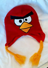 ANGRY BIRDS Red Cardinal Knit Hat, One Size, Adult, Fleece Lined, excl. cond.