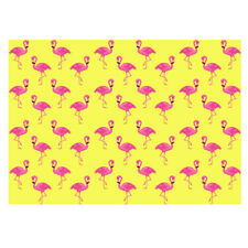 Unique High Quality Pink Flamingos/Yellow Background Gift Wrap-(A3 Size)-GP189
