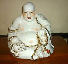 Ancien Bouddha Porcelaine 31cm Buddha Famille Rose Old Chinese porcelain 19th