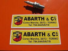 Pair  Abarth + Co sticker Fiat 500   Zagato decals