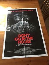 Don't Go In The House 1979 Original Movie Poster One Sheet Joseph Ellison Horror