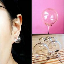 Fashion Jewelry Women Individuality Earrings Clear Glass Resin Ball Bubbles Gift