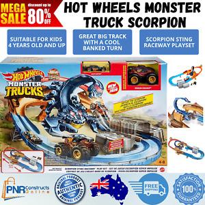 Hot Wheels Monster Trucks Scorpion Sting Raceway Playset Race Track Set Gift