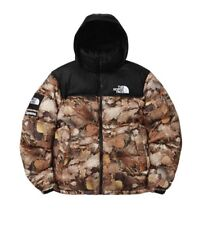 Supreme x The North Face Nuptse Jacket Leaves Pattern Yeezy Bape Palace Kith