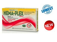 Nature's Plus, Hema-Plex, 30 Sustained Release Tablets -with iron- Vegan