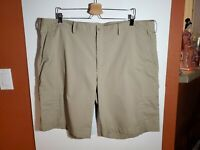 Nike Golf Dri Golf Shorts Men's Size 42  Flat Front Beige Khaki Read Description