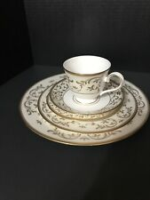 Lenox Opal Innocence Gold Scroll Vines 5pc Place Setting