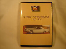 CHRYSLER PLYMOUTH DODGE 1963 - 1964 Classic car DVD video collection