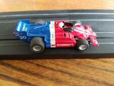 Vintage Tyco HO 440x2 F-1 #30 Domino's Indy Race Track Slot Car Near Mint