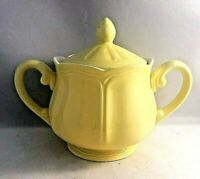 Federalist Ironstone Sugar Bowl With Lid Buttercup Yellow #4239 Handles Finial