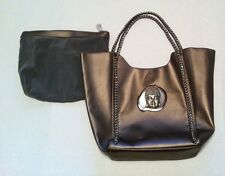 Large Embellished Leather Shopper Tote Bag Purse & Pouch Buddha Geode Rock