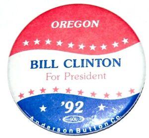 1992 BILL CLINTON OREGON campaign pin pinback button political presidential